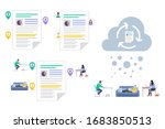 business people collaborating...   Shutterstock .eps vector #1683850513