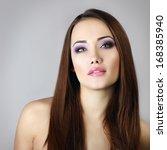 beautiful girl. natural beauty... | Shutterstock . vector #168385940