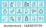 wuhan line icon set on theme... | Shutterstock .eps vector #1683870739