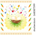 easters background with... | Shutterstock . vector #168387599