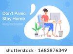 quarantine and self isolation... | Shutterstock .eps vector #1683876349