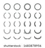 set of different black and... | Shutterstock .eps vector #1683878956