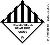 miscellaneous dangerous goods... | Shutterstock .eps vector #1683881500