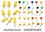 colored various pushpins  map... | Shutterstock .eps vector #1683896689