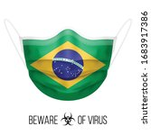 medical mask with national flag ... | Shutterstock .eps vector #1683917386