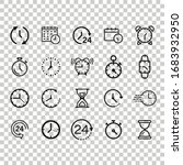 time icon set in flat style.... | Shutterstock .eps vector #1683932950