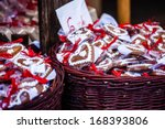 gingerbread hanging at the...   Shutterstock . vector #168393806
