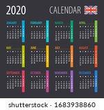 2020 calendar   illustration.... | Shutterstock .eps vector #1683938860