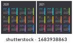 2020 2021 calendar  ... | Shutterstock .eps vector #1683938863