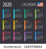 2020 calendar   illustration.... | Shutterstock .eps vector #1683938866