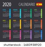2020 calendar   illustration.... | Shutterstock .eps vector #1683938920