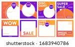 gradient social media post...   Shutterstock .eps vector #1683940786