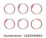 super set hand drawn highlight... | Shutterstock .eps vector #1683940843