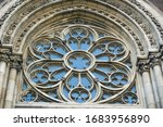 Rose Window Of A Gothic Church  ...