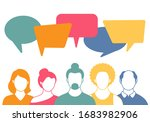 people avatars with speach... | Shutterstock .eps vector #1683982906