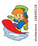cartoon child   activity  ... | Shutterstock . vector #168400118