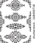 divide victorian lines on white | Shutterstock .eps vector #168400718