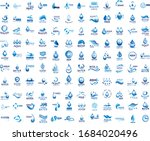 water splash vector and drop... | Shutterstock .eps vector #1684020496
