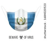 medical mask with national flag ... | Shutterstock .eps vector #1684020523
