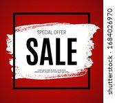 summer sale concept background. ... | Shutterstock .eps vector #1684026970