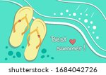 postcard from the rest on the...   Shutterstock .eps vector #1684042726