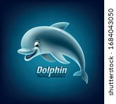 cartoon dolphin for logo and... | Shutterstock .eps vector #1684043050