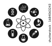 science laboratory icons on... | Shutterstock .eps vector #1684063243