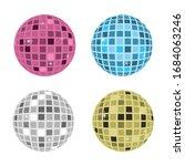 disco ball icon vector...