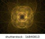 abstract figure. orange   black ... | Shutterstock . vector #16840813