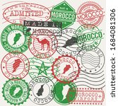 morocco set of stamps. travel... | Shutterstock .eps vector #1684081306