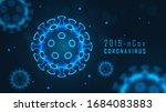 coronavirus cell structure on... | Shutterstock .eps vector #1684083883