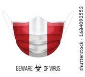 medical mask with national flag ... | Shutterstock .eps vector #1684092553