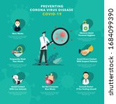 preventing corona virus disease ... | Shutterstock .eps vector #1684099390