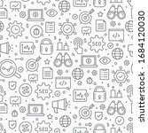 seo seamless pattern. vector... | Shutterstock .eps vector #1684120030