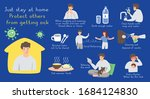 just stay at home  protect... | Shutterstock .eps vector #1684124830