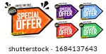set special offer tags  sale... | Shutterstock .eps vector #1684137643