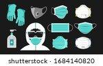 safety breathing masks.... | Shutterstock .eps vector #1684140820