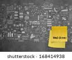 well done words with crumpled... | Shutterstock . vector #168414938