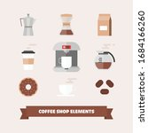 coffee icons flat set isolated... | Shutterstock .eps vector #1684166260