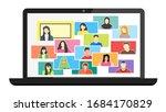 online class. stay school learn ...   Shutterstock .eps vector #1684170829