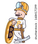 vector drawing of a miner man... | Shutterstock .eps vector #168417299