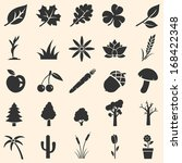 vector set of plants icons | Shutterstock .eps vector #168422348