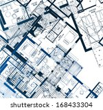 horizontal blueprint. vector... | Shutterstock .eps vector #168433304