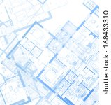 horizontal blueprint. vector | Shutterstock .eps vector #168433310