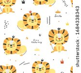 seamless pattern with cute... | Shutterstock .eps vector #1684338343