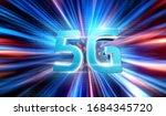 3d rendering the speed of the... | Shutterstock . vector #1684345720