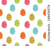 easter eggs seamless pattern.... | Shutterstock .eps vector #168434576