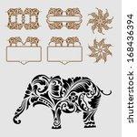 elephant ornament decoration... | Shutterstock .eps vector #168436394