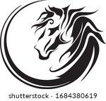 Circle Horse Image  Tattoo...
