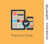 flat design modern vector... | Shutterstock .eps vector #168440708